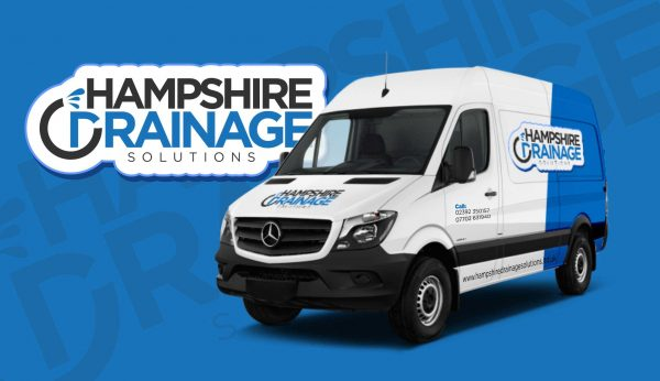 Hampshire Drainage Van in livery ready for work