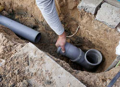 New drain installation